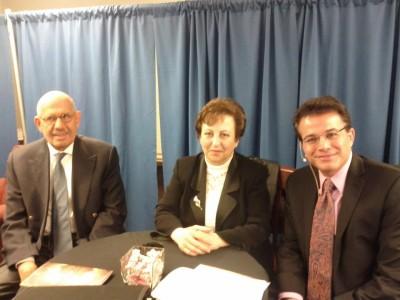 With Shirin Ebadi and El-Baradawi